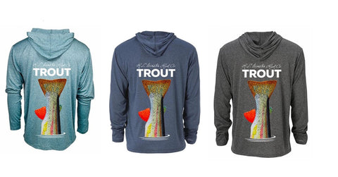 TROUT TECH Hooded Fishing Shirts