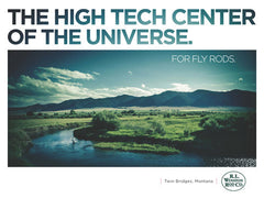 High Tech Center of the Universe for Fly Rods Poster