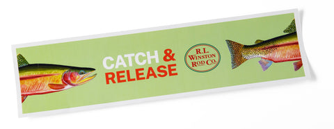 "Catch & Release Sticker - 11.5"" x 3.5"""