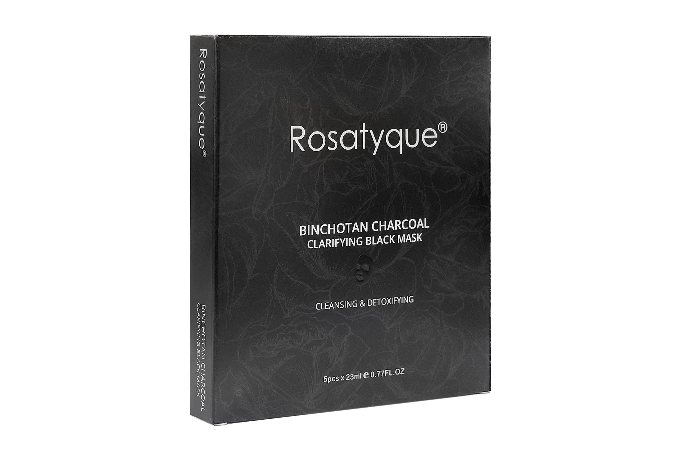 Rosatyque Binchotan Charcoal Clarifying Black Mask Box 5pcs - Rosatyque