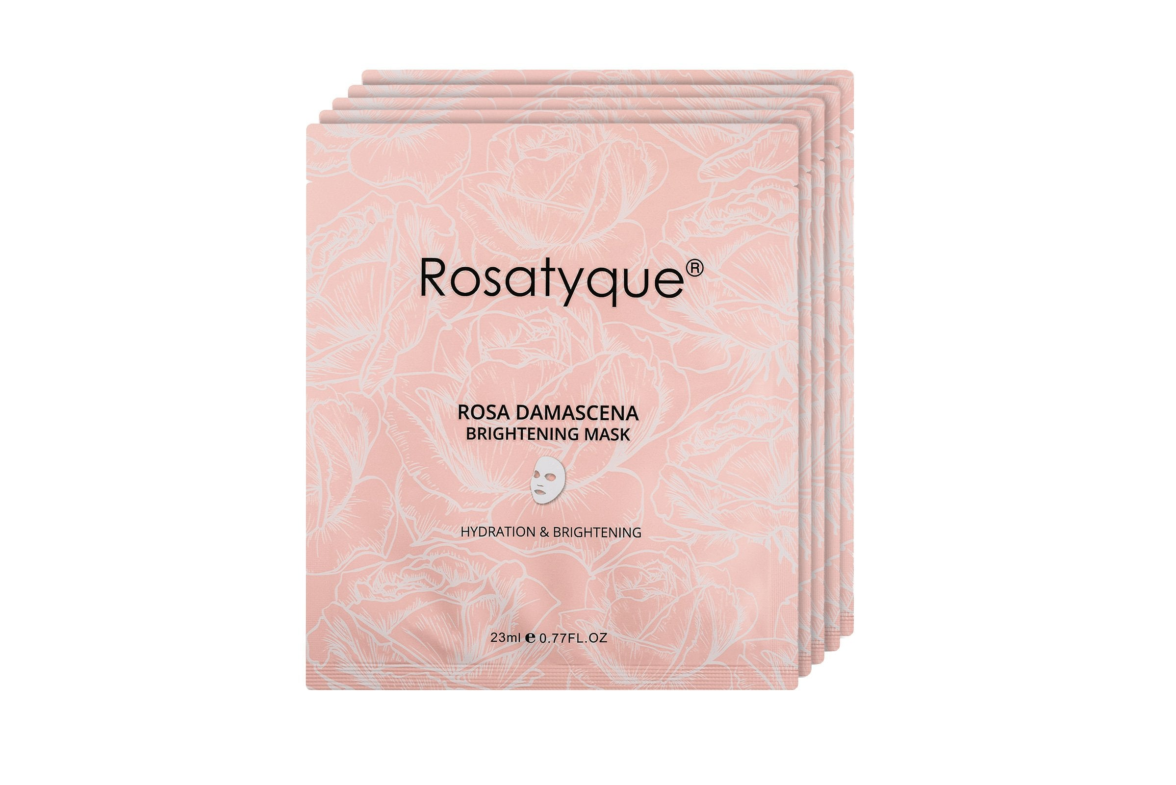 Rosa Damascena Brightening Mask Box 5pcs - Rosatyque