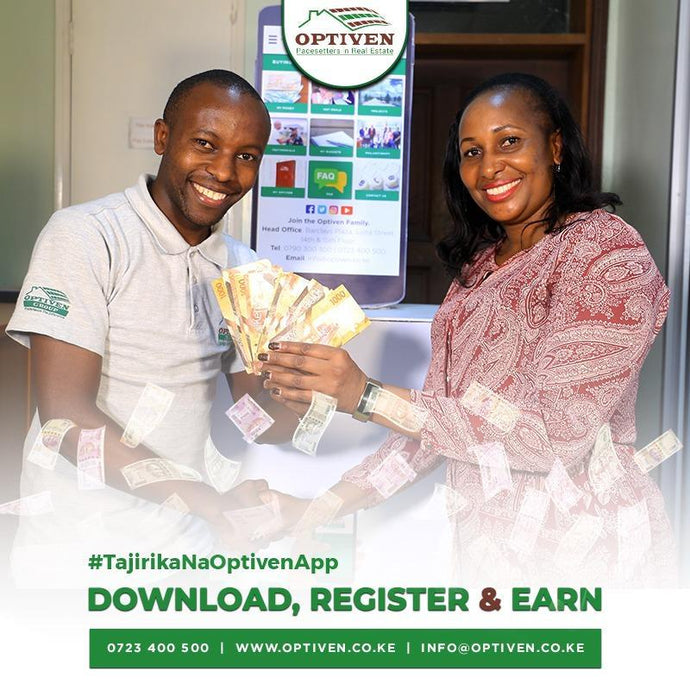 Buy through the Optiven App & Get Ksh23,000 Optiven Voucher