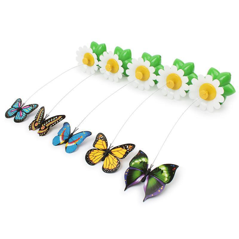 Electric Rotating Colorful Butterfly For Pets