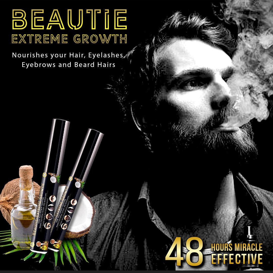BEAUTIE® - Extreme Growth for Hair, Eyebrow, Eyelash & Beard