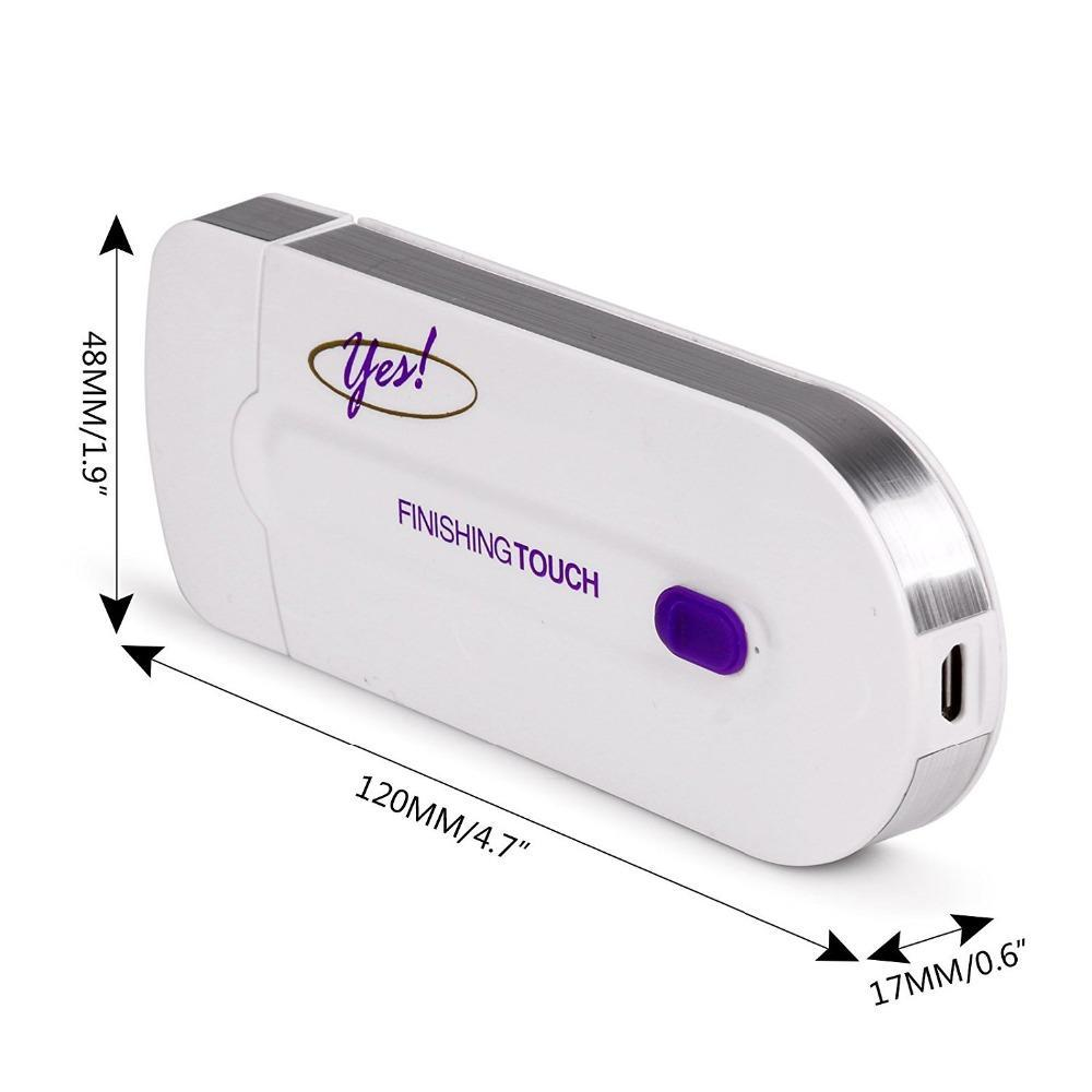 RECHARGEABLE FINISHING TOUCH HAIR REMOVER
