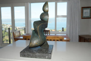 Abstract bronze sculpture by Stephen Williams