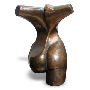 Standing abstract female figurative bronze sculpture by Stephen Williams.