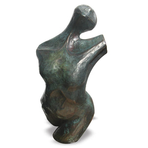 Standing female figurative bronze sculpture by Stephen Williams.