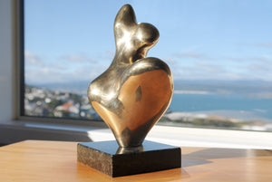 Abstract female figurative bronze sculpture by Stephen Williams
