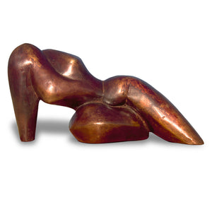 Reclining abstract figurative bronze sculpture for sale by Stephen Williams.