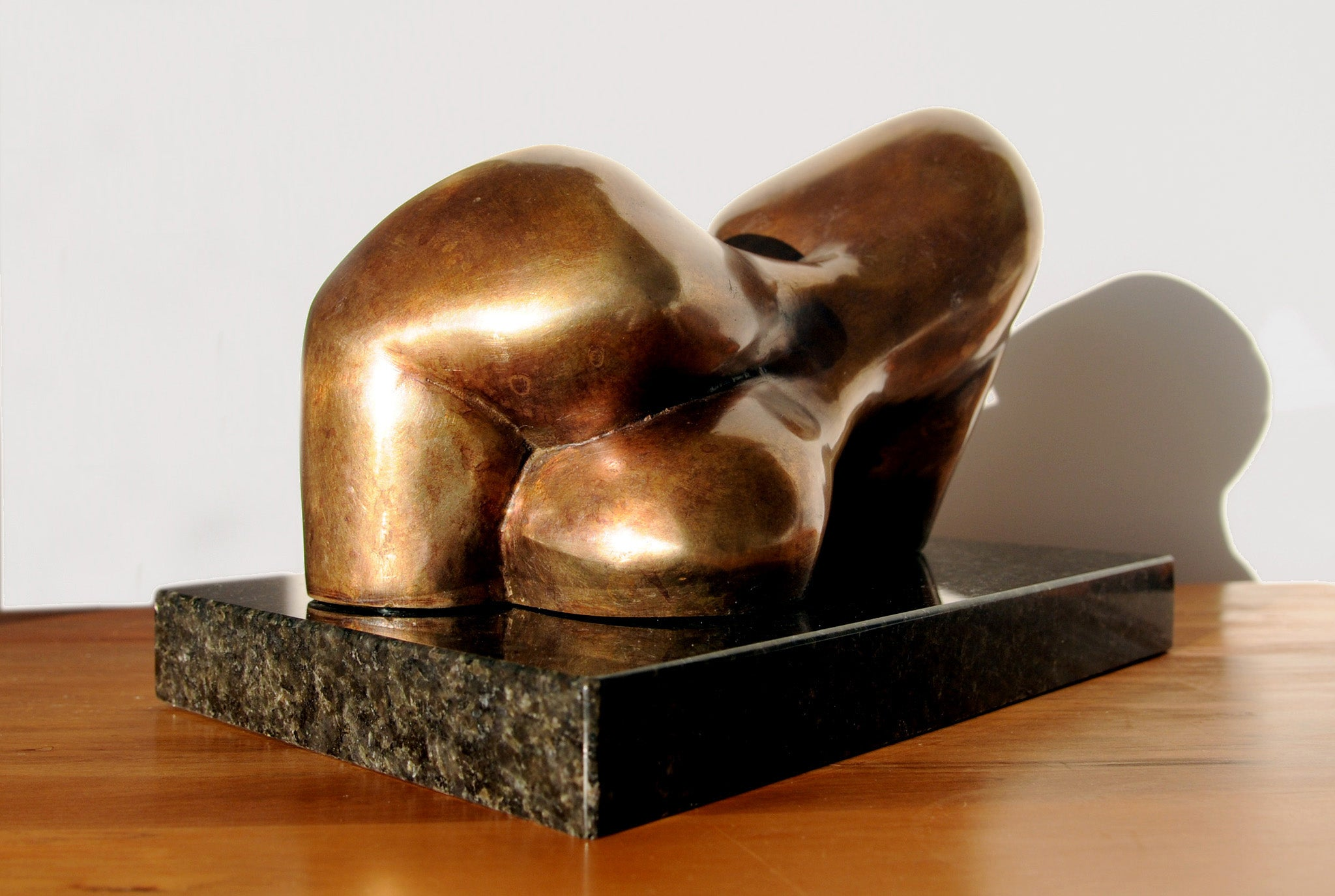 Reclining figure cubist bronze sculpture for sale by Stephen Williams