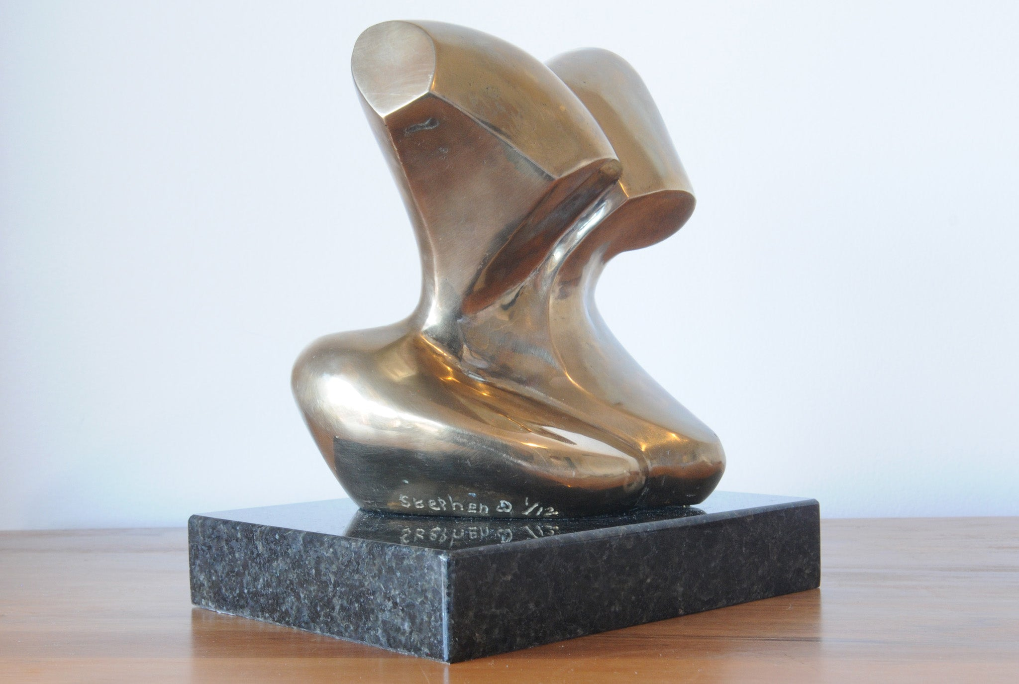 Abstract bronze figure sculpture by Stephen Williams