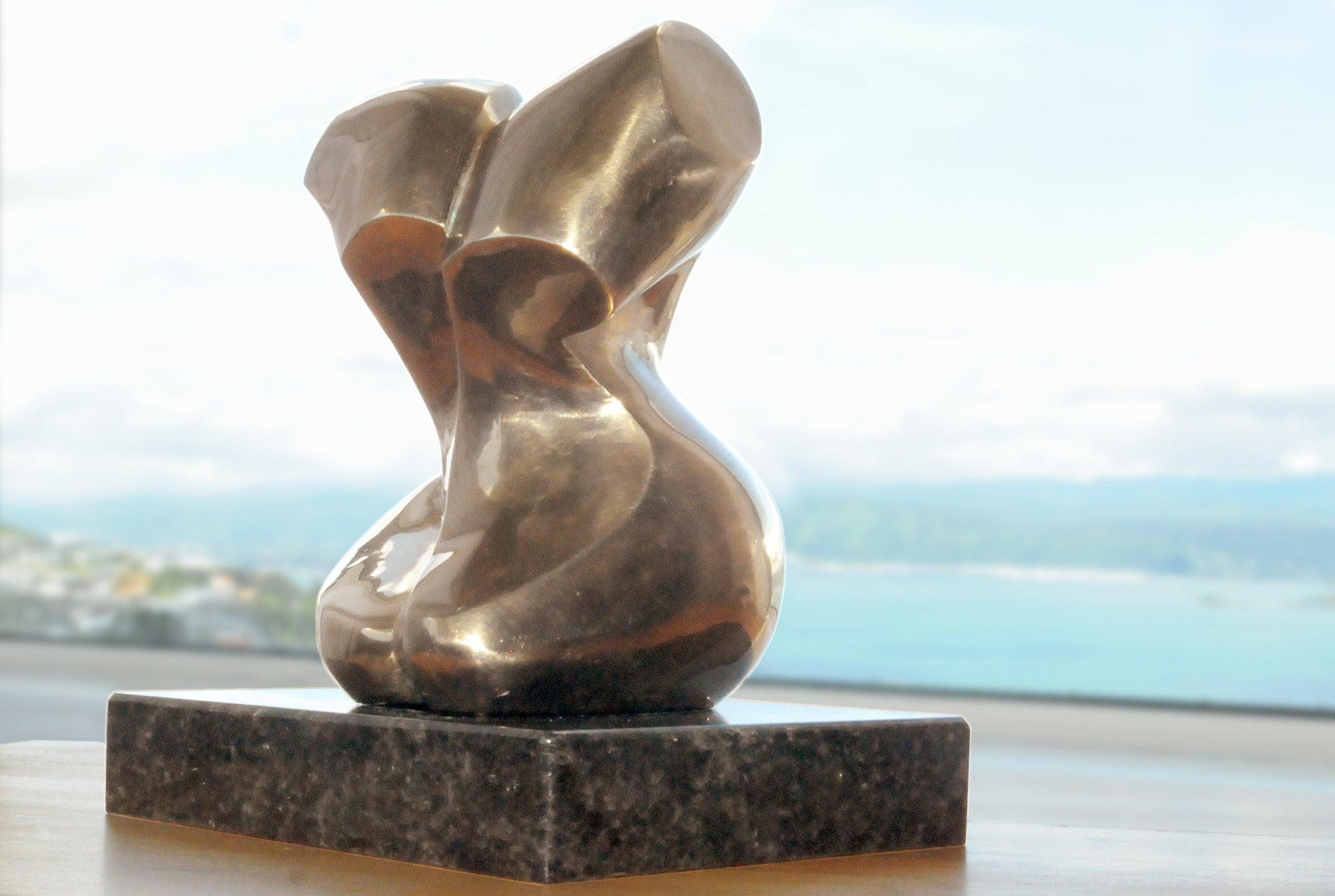 Abstract figurative bronze sculpture by Stephen Williams
