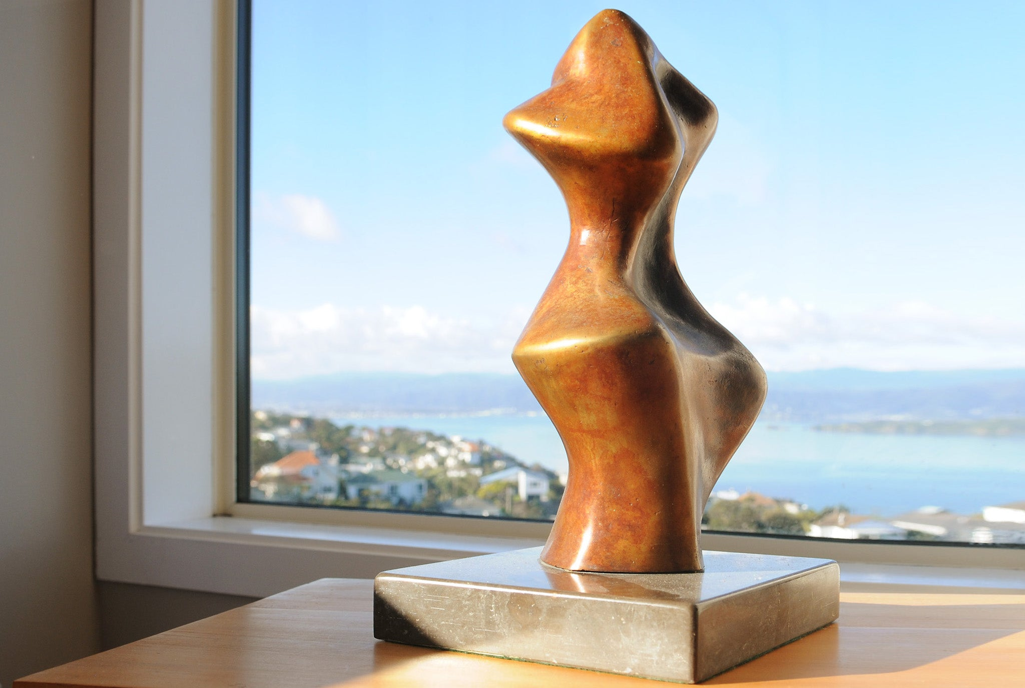 Abstract expressionist bronze sculpture by Stephen Williams.