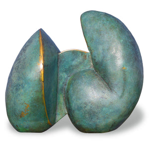 Spiral Forms - Abstract geometric bronze sculpture by Stephen Williams