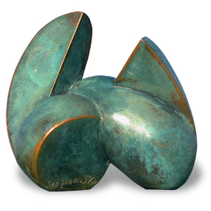 Abstract geometric bronze sculpture for sale by Stephen Williams