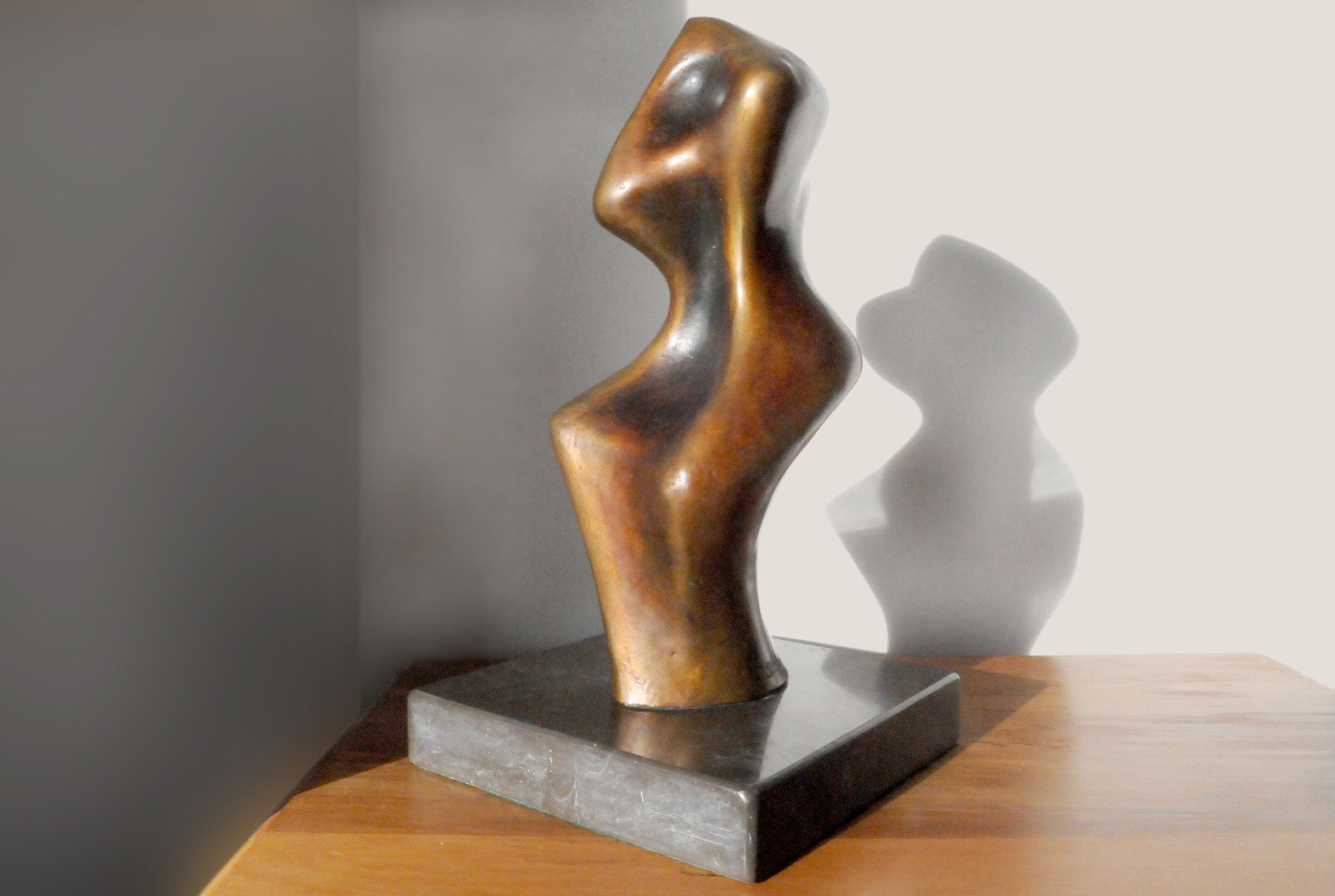 Abstract bronze sculpture for sale by Stephen Williams | New Zealand.