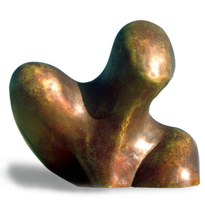 Abstract biomorphic bronze sculpture for sale by Stephen Williams.