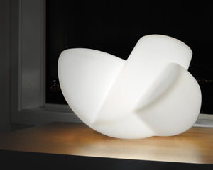 Molded polyethylene abstract minimalist table lamp sculpture for sale by Stephen Williams