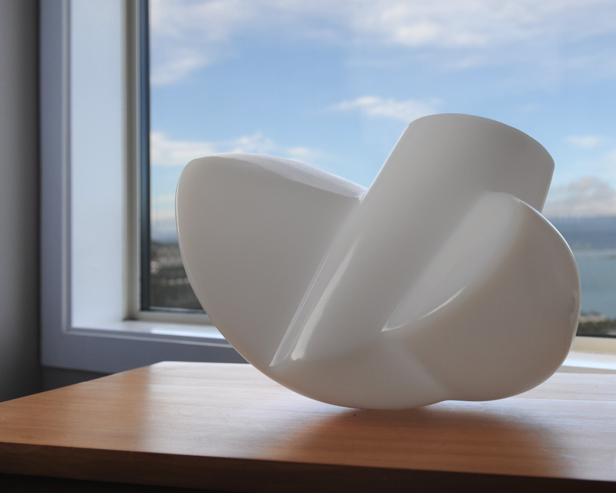 Molded plastic lamp sculpture by Stephen Williams.