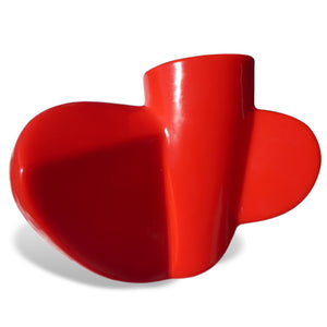 Twist 1 - Red polyethylene lamp sculpture by Stephen Williams