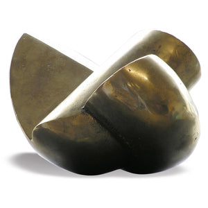 Abstract minimalist bronze sculpture for sale by Stephen Williams.