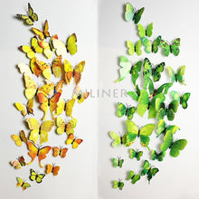 Load image into Gallery viewer, 12pcs Butterflies 3D wall decor stickers