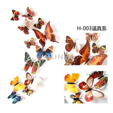 Load image into Gallery viewer, 12pcs Butterflies 3D wall decor stickers - true