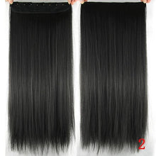 Load image into Gallery viewer, 60 cm Long Straight Clip in Hair Extensions Synthetic Hair Piece - #2 / 24inches