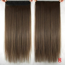 Load image into Gallery viewer, 60 cm Long Straight Clip in Hair Extensions Synthetic Hair Piece - #8 / 24inches