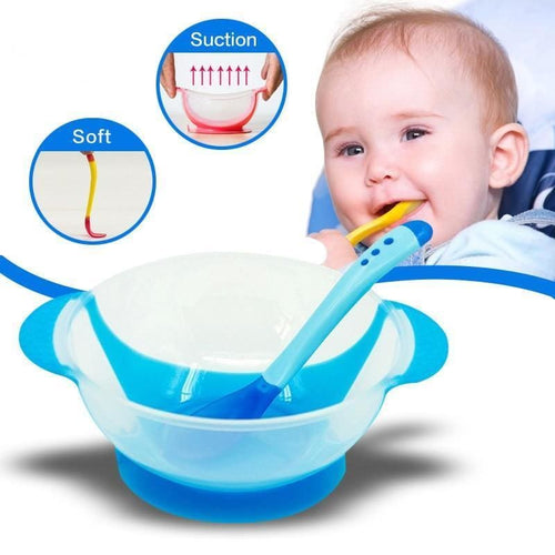 Childrens Tableware Learning Dish With Suction Cup