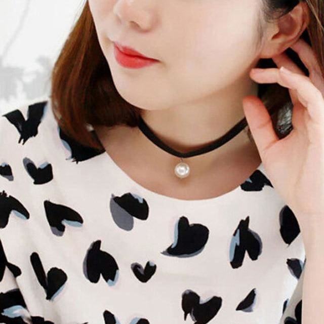 Choker Necklace Simple And Unique With Different Design - NK658white - Necklaces