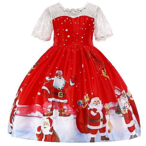 Christmas Princess Knee-length 2-12year - as pictures 18 / 3T