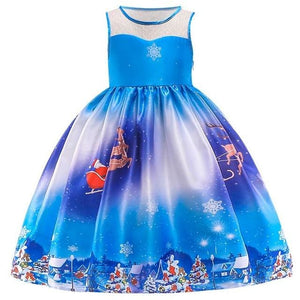 Christmas Princess Knee-length 2-12year - as pictures 5 / 4T
