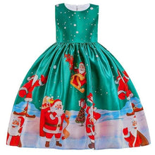 Load image into Gallery viewer, Christmas Princess Knee-length 2-12year - as pictures 7 / 3T