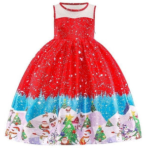 Christmas Princess Knee-length 2-12year - as pictures 8 / 3T