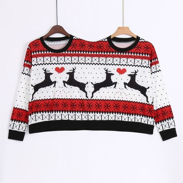Couples Christmas Sweater / Ugly Sweater - White / S / China