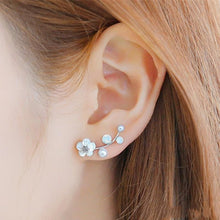 Load image into Gallery viewer, Crystal Earrings For Women Branch Shell Pearl