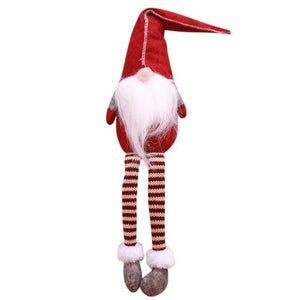 Cute Sitting Long-legged Elf Christmas Decorations for Home - R