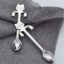 Load image into Gallery viewer, Cute Stainless Steel with Cat Hanging Handle