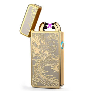 Double Arc Lighter plasma Electronic Pulse With Dragon Design - 2