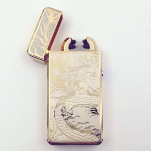 Double Arc Lighter plasma Electronic Pulse With Dragon Design