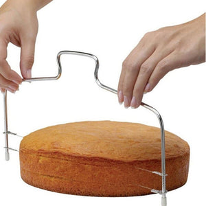 Double Line Adjustable Metal Cake Cutter