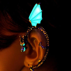 Dragon clip Earrings glowing in the dark - Earrings