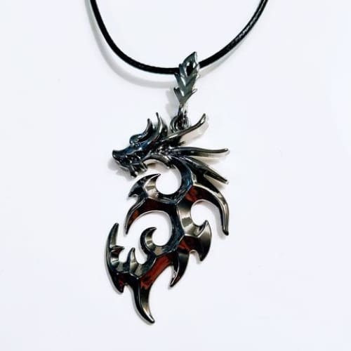 Dragon Necklace 2 Colors Casual Wearing Unisex - Black Gun Plated - Necklaces