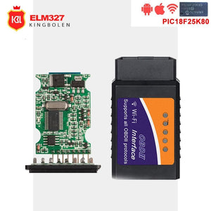 ELM327 OBD2 Bluetooth/WIFI V1.5 Car Diagnostic Tool ELM 327 OBD II Android/IOS/Windows 12V Diesel