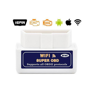 ELM327 OBD2 Bluetooth/WIFI V1.5 Car Diagnostic Tool ELM 327 OBD II Android/IOS/Windows 12V Diesel - ELM327 WIFI 1