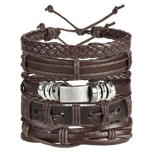 Handmade Multi layer Braided Leather Bracelet - BJDY701 - Bracelets