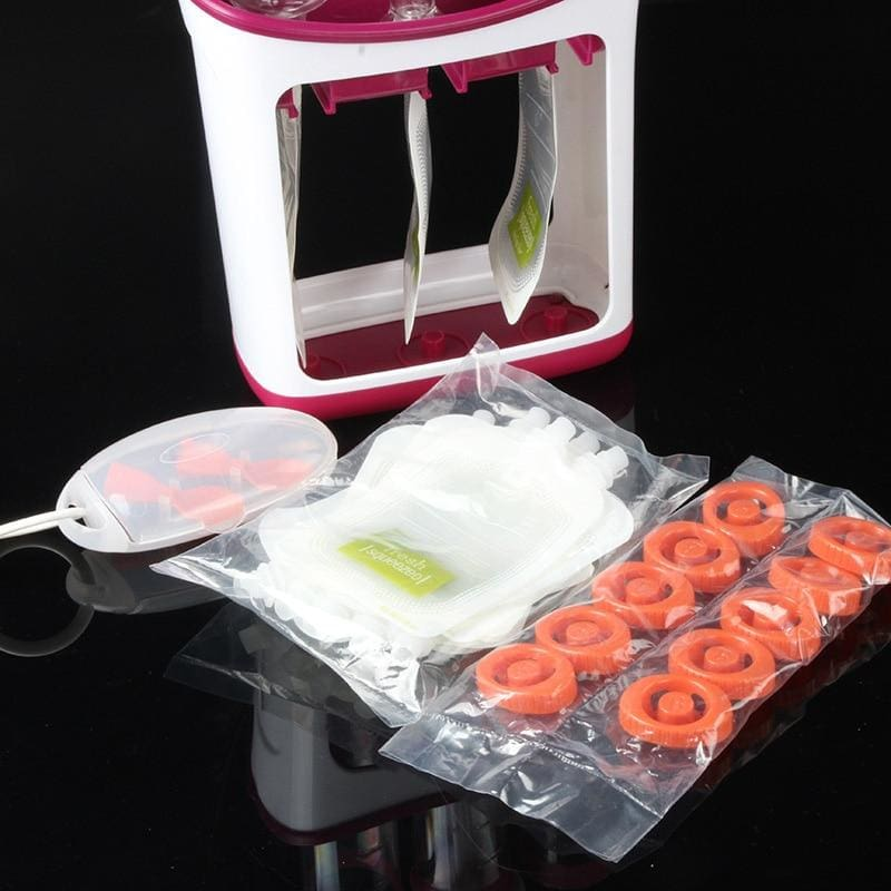 Infant Squeeze Food Station - 10pouch 2spoons