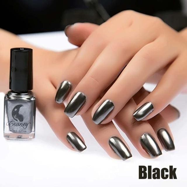 Long-Lasting Glossy Nail Polish - Black